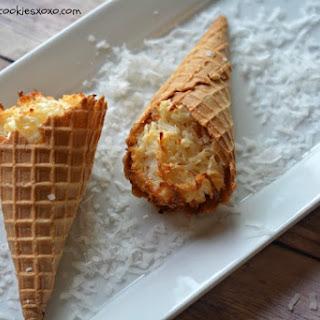 Coconut Macaroon Cones