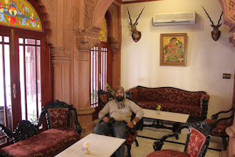 Photo: Waiting area of Laxmi Niwas...we availed a guided tour of the complex