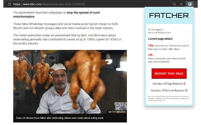 Fatcher - Report Fake News