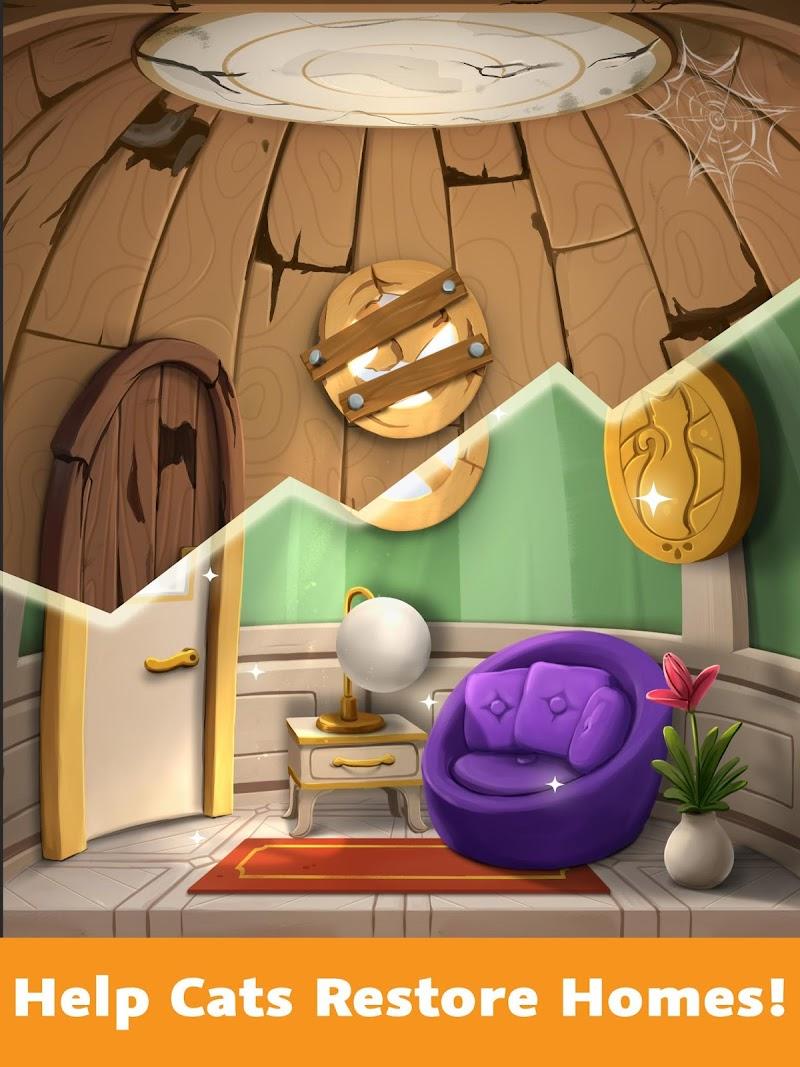 Cat Home Design: Decorate Cute Magic Kitty Mansion Screenshot 1