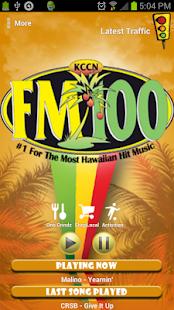 KCCN FM100- screenshot thumbnail