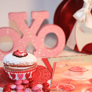Heart Cut-Out Cupcakes for Valentine's Day
