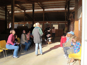 Photo: WoHeLo Stables Interior Going over rules and preparing to fit for helmets