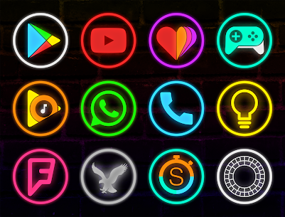 Neon Glow Rings – Icon Pack (MOD, Paid) v4.8.0 1