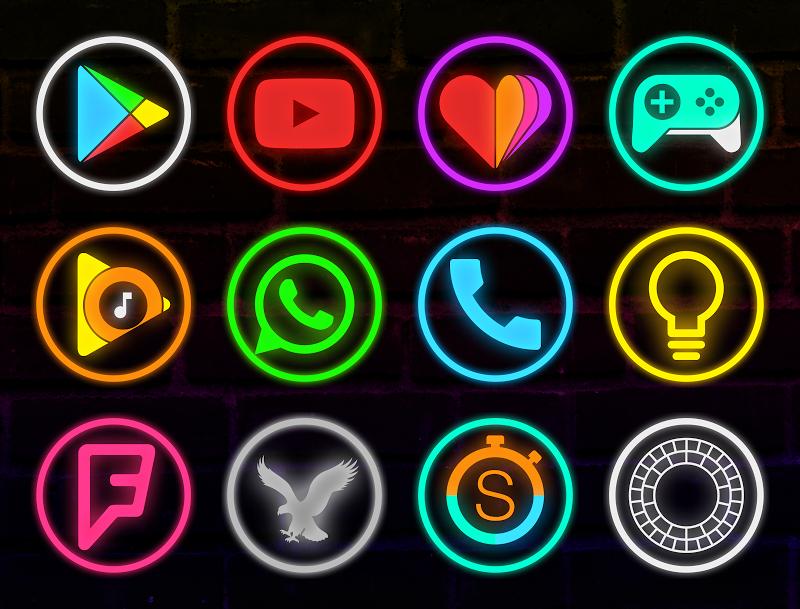 Neon Glow Rings - Icon Pack Screenshot 0