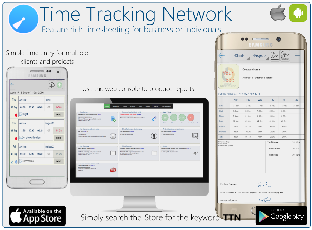 Time Tracking Network - TTN- screenshot
