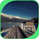 Calm Lake with Log Cabin