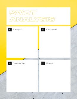Urban SWOT - SWOT Analysis item