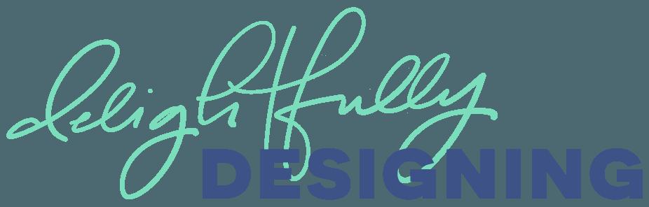 delightfully designing, dd, hand-lettered logo, custom logo, custom icon, custom branding