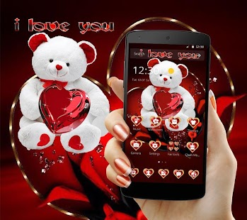 Download Cute Teddy Bear Love Theme For PC Windows and Mac