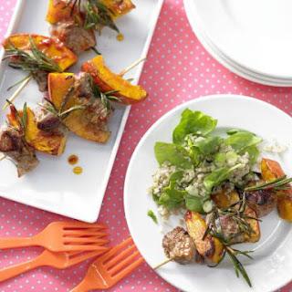 Lamb Skewers with Bulgur Salad