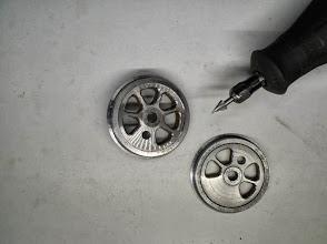 Photo: Idem sur les 2 types de roues