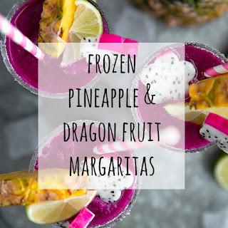 Frozen Pineapple Dragon Fruit Margaritas.