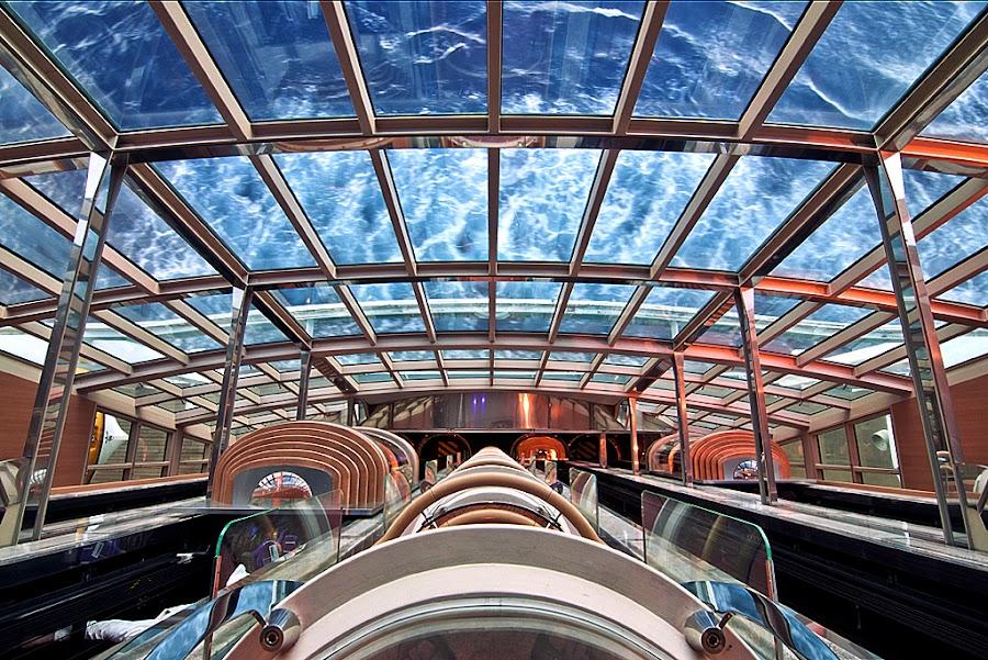 Elevator Atrium by Gary Pope - Buildings & Architecture Other Interior ( interior, architecture, cruiseship. atrium, design )