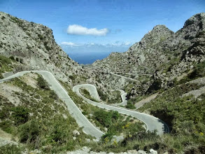 Photo: La route vers Port de sa Calobra