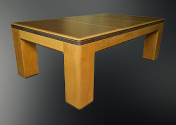 USA Spartan Table with a wood pool table covering on the table