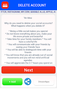Delete account delete social accounts apps on google play screenshot image ccuart Images