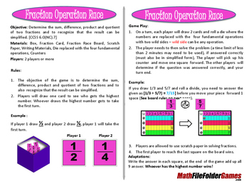 Fraction Operation Race