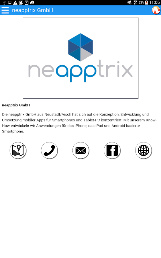 Neustadt App- screenshot