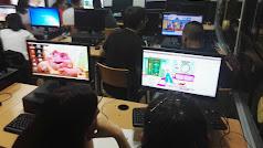 Alumnos en pleno desarrollo del juego musical.