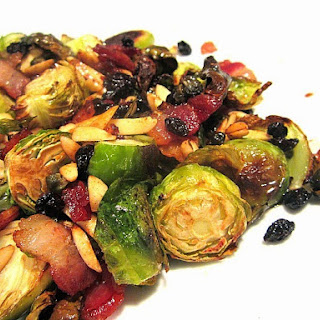 Brussels Sprouts w/ Bacon, Capers, Raisins & Almonds