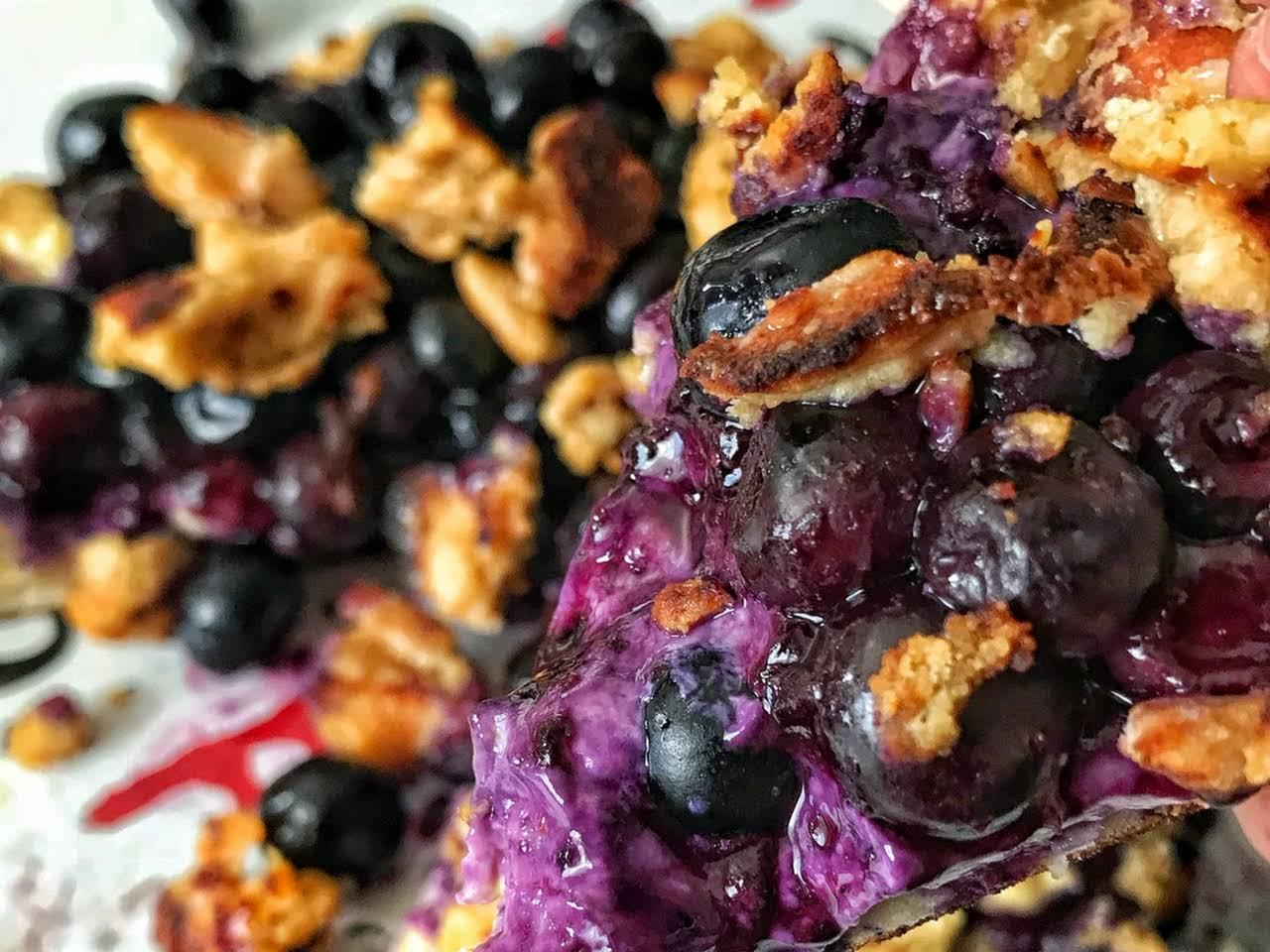 blueberry dessert recipes low calorie Low Calorie Blueberry Dessert Skillet Pizza