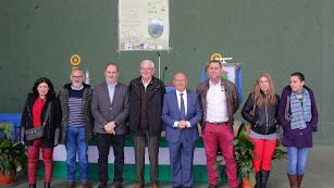 Juani Martínez, Blas Navarro,José Manuel Ortiz, delegado;?Francisco Castelló, conferenciante; Antonio Torres, alcalde; Francisco Menchón, técnico;?Is