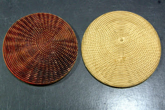 Photo: Michael brought in many examples of ways to decorate your woodturnings.  Here are some multi-axis options.
