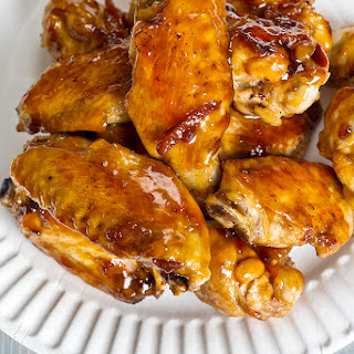 Tamarind and Dark Beer-Glazed Wings.