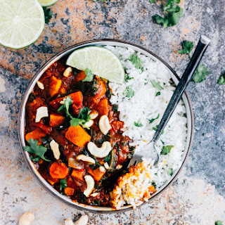 Sweet Potato and Spinach Curry.