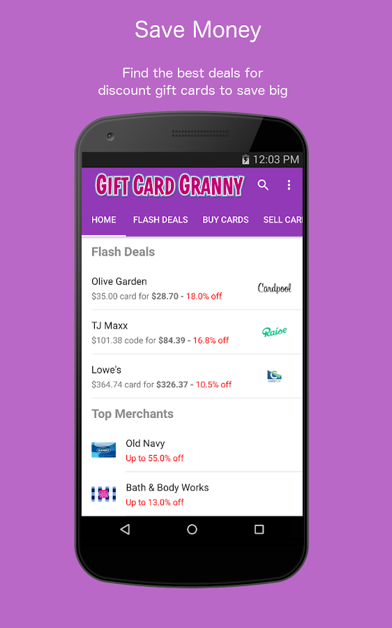 Buy & Sell Discount Gift Cards- screenshot