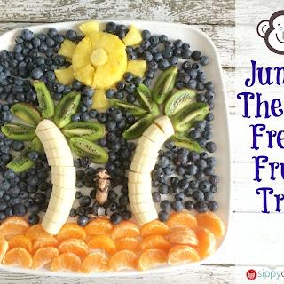 Fresh Fruit Tray and Apple Kiwi Kale Smoothies #JungleFresh