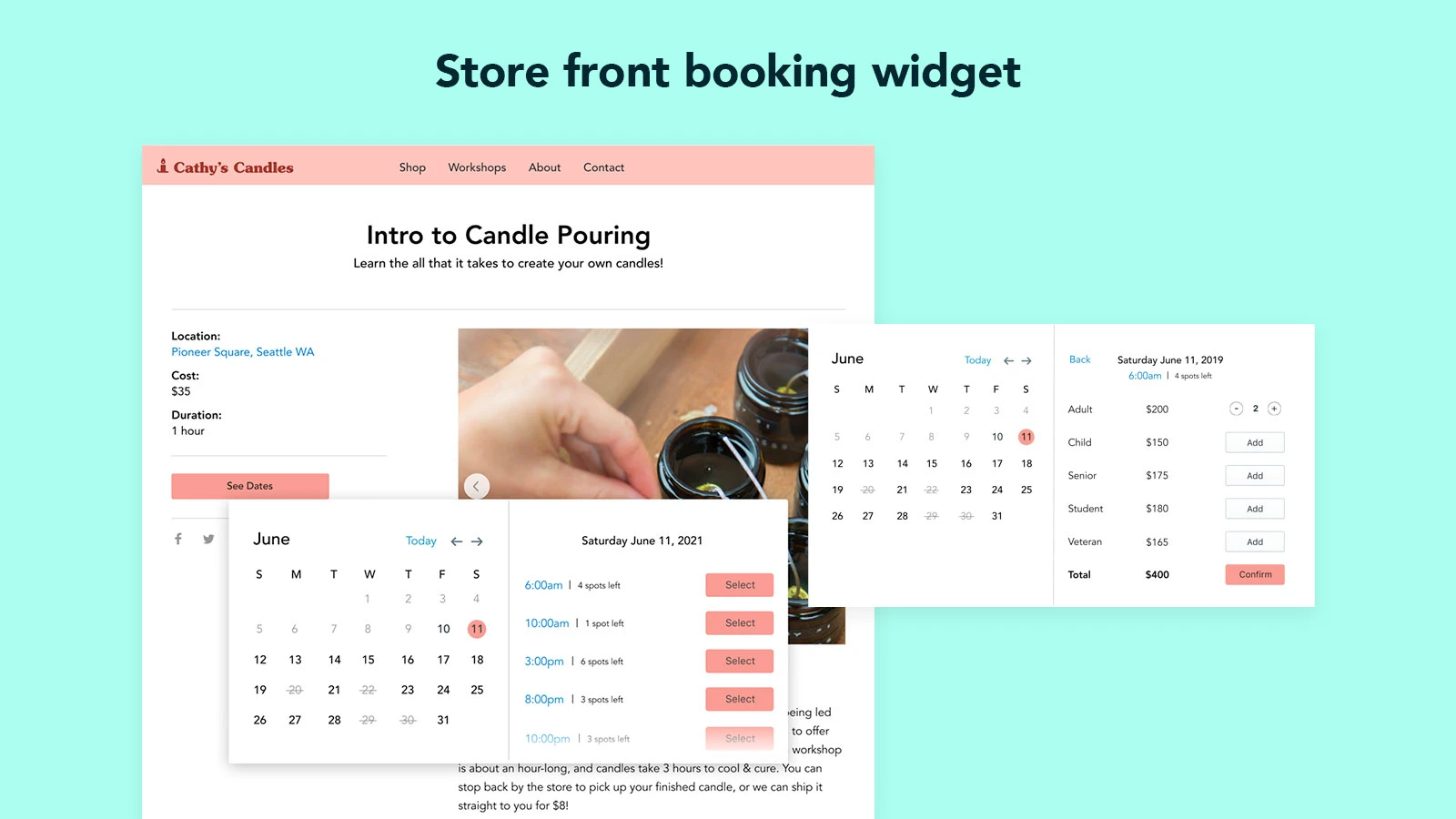 awesome Shopify booking app