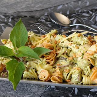 Chicken, Basil Pesto & Pine Nut, Pasta Salad.
