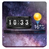 3D Flip Clock & Weather Widget