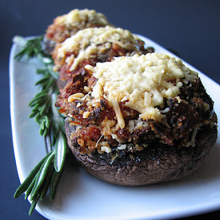Sundried Tomato and Kalamata Olive Stuffed Mushrooms