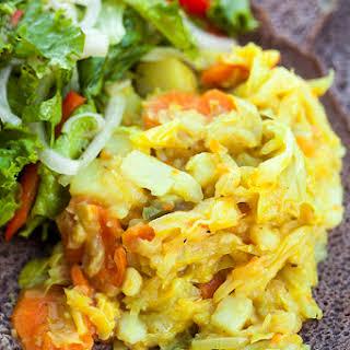 Tikil Gomen (Cabbage, Carrots, & Potatoes).