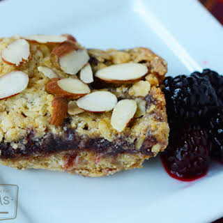 Blackberry Almond Oat Squares.