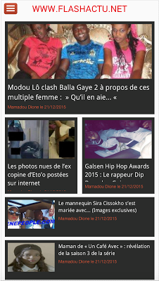 Flash Actu - screenshot