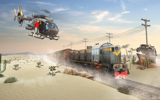Mission Counter Attack Train Robbery Shooting Game apkpoly screenshots 4