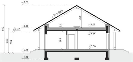 Dom przy Bukowej 14 - Przekrój