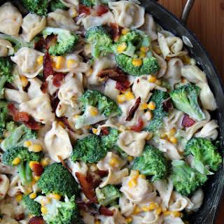 Broccoli & Bacon Tortellini Alfredo.