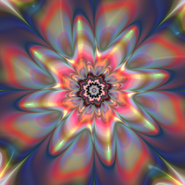 Flower 13 by Cassy 67 - Illustration Abstract & Patterns ( abstract, bloomy, digital art, fractal art, bloom, flowers, fractal, digital, fractals, floral, energy, flower )