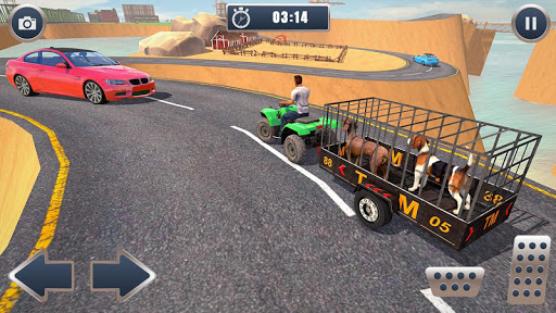 ATV Bike Dog Transporter Cart Driving: Dog Games 1.16 screenshots 3