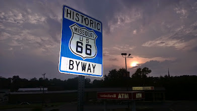 Photo: August 6, 2014-The journey begins after torrential downpours west of St. Louis.  #66Kicks commences!