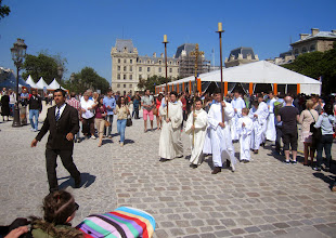 Photo: Notre Dame procession after Mass