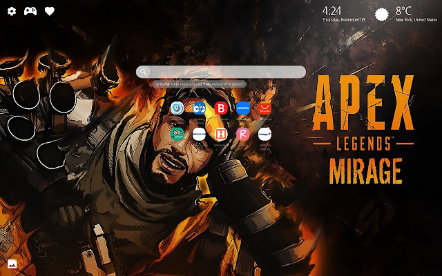 Mirage Apex Legends Wallpaper New Tab