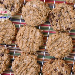 Gluten-Free Chia Seed Peanut Butter Oat Cookies.