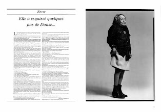 Photo: Page d'Égoïste, 1996, (photo : Richard Avedon)