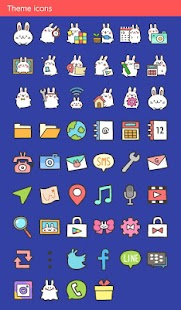 Cute Wallpaper Moon Rabbit Theme - náhled